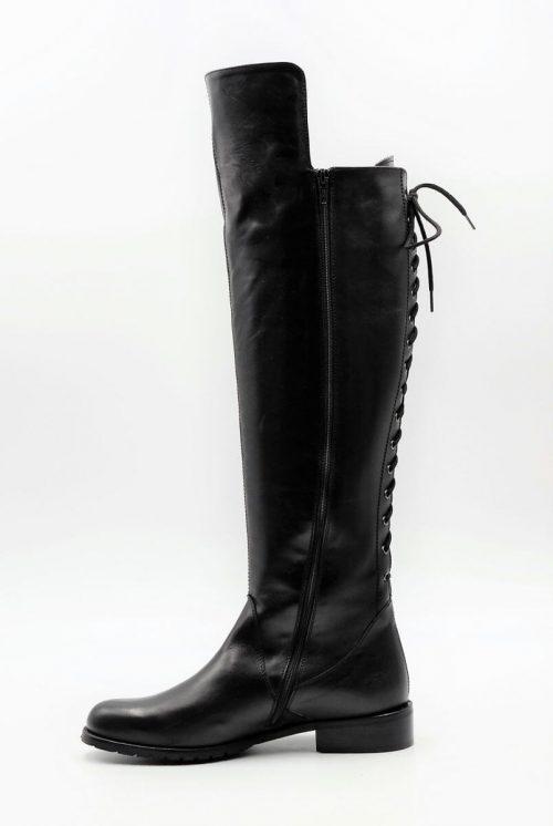 Stiefel 16-Loch in schwarz