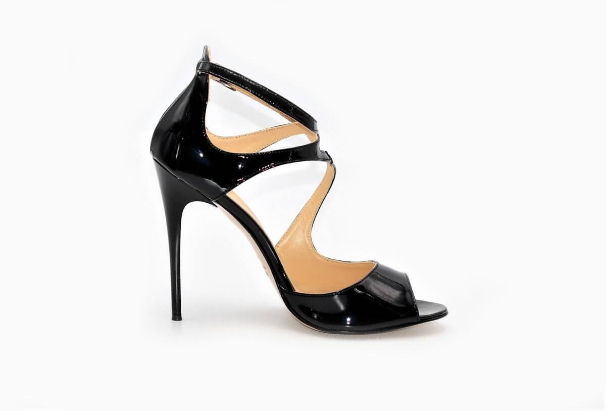 Lackleder Italien Stiefel Aus Heels Damenschuhe High GlamblackExlusive Und uFTJl31Kc5