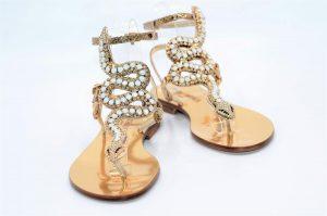 Paola Fiorenza Capri Sandals Opal Snake