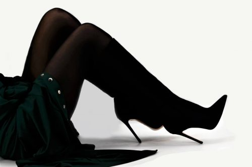 Elegante Black Stiletto-Heel Stiefel