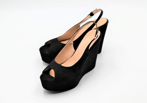 Black Peep Toe