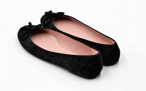 Pretty Ballerinas Relief-Samt schwarz