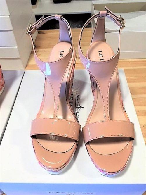 Wedges Sandalen nude und rosè