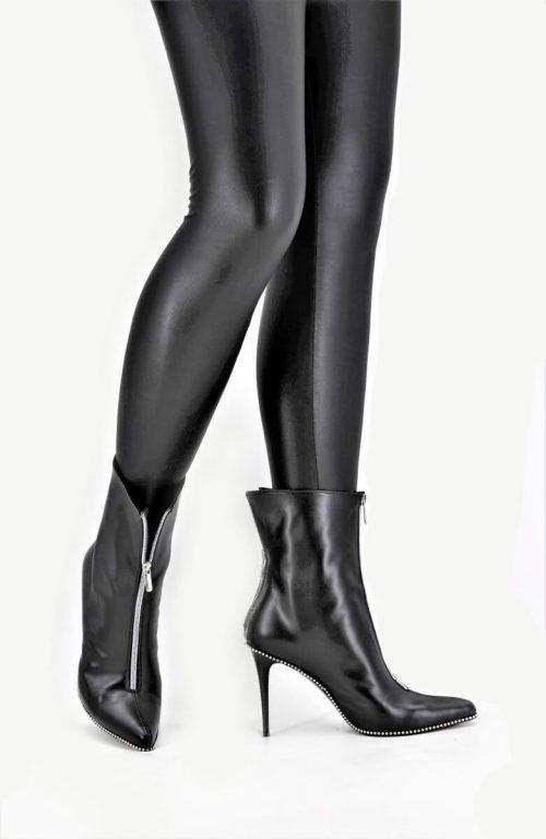 Stiletto Bootie double zipper