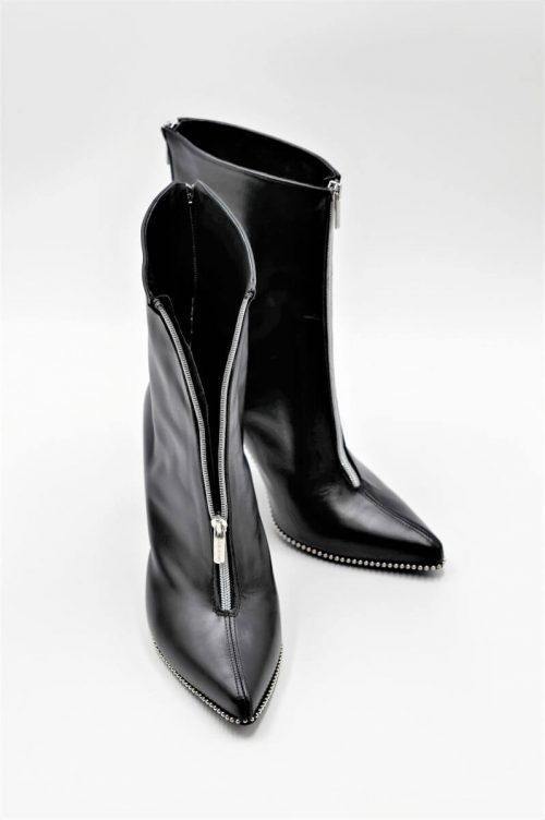 Stiletto Bootie double zipper