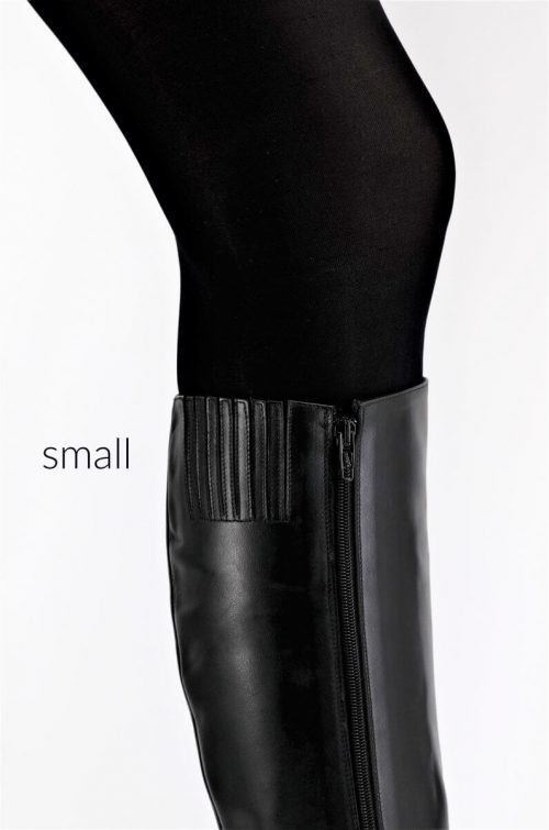Lederstiefel 12 cm Absatz Schaft Small
