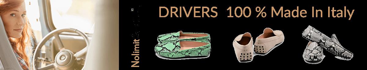 Drivers bei Nolimitshoes.com Damenschuhe und Stiefel in Übergröße. Exklusiver Modelle aus Italien.