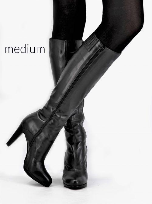Lederstiefel 12 cm Absatz Schaft Medium