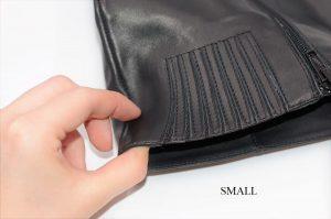 Stiefel für schlanke Beine aus schwarzem Leder. Schaft small