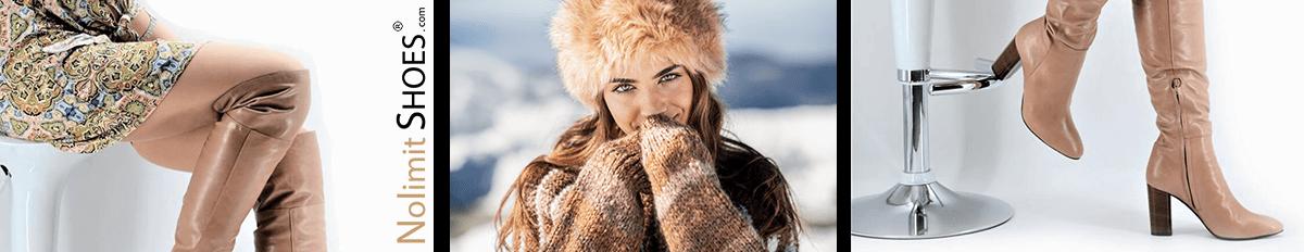Winter 2019 bei Nolimitshoes.com Damenschuhe und Stiefel in Übrergröße made in italy